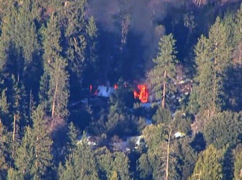 Cabin Dorner Believed to be Holed Up in Explodes in Flames