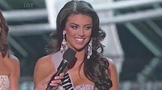Marissa Powell, Miss Utah USA, Fumbles Pageant Question On