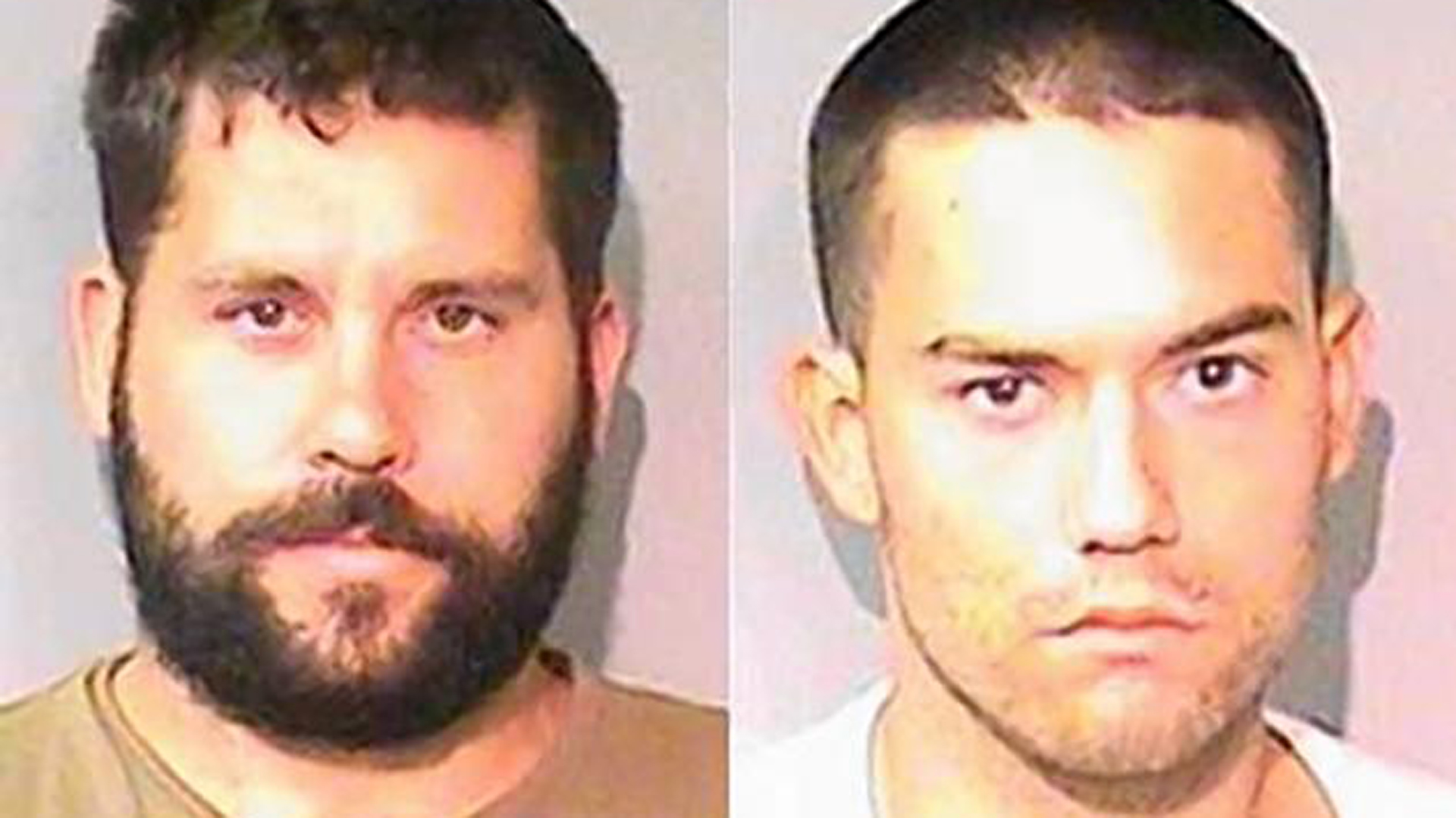 Ryan Balletto, left, and Patrick Pearmain are seen in booking photos released by the Lake County Sheriff's Office.
