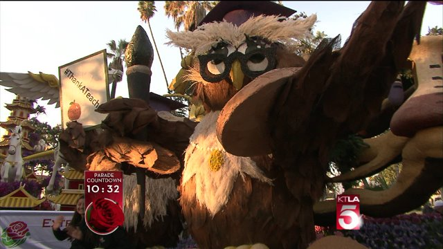 """Farmers Insurance Brings """"Thank a Million Teachers"""" Float to Rose Parade"""