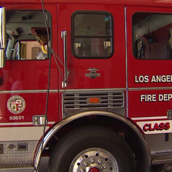 A Los Angeles Fire Department truck is seen in this file photo. (Credit: KTLA)