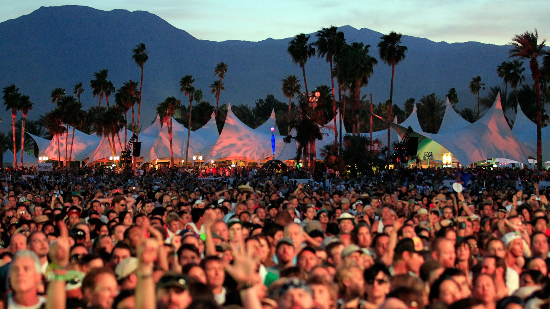 A crowd takes in a performance at the Coachella Valley Music & Arts Festival in Indio on April 17, 2011. (Getty Images)