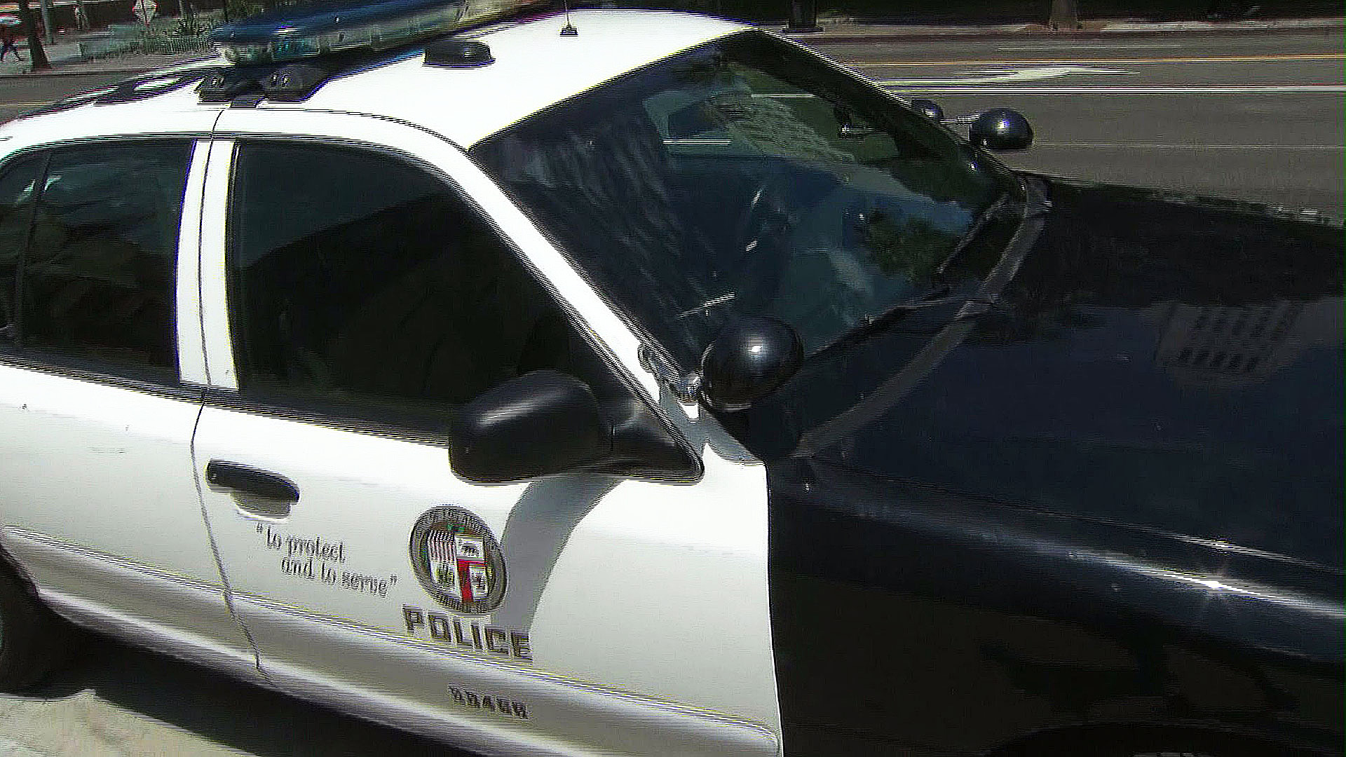 An LAPD patrol car is seen in this file photo. (Credit: KTLA)