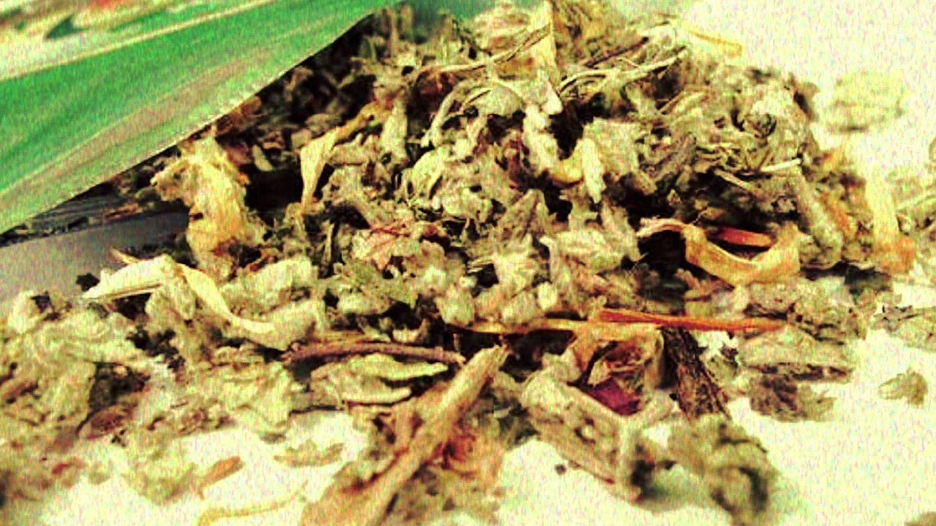 """The synthetic marijuana, known as """"spice"""" is seen in a file photo. (Credit: KTLA)"""