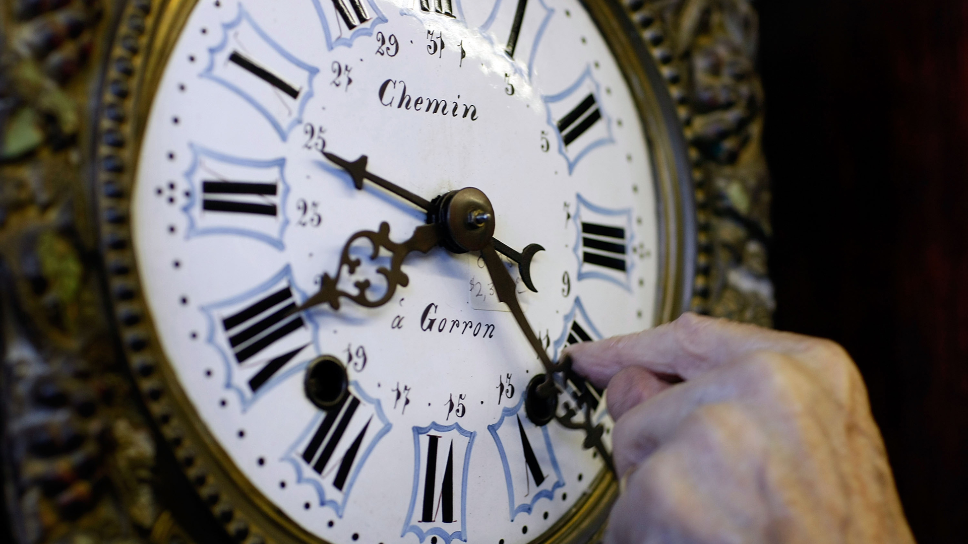 A clock is seen in a file photo. (Credit: Joe Raedle/Getty Images)