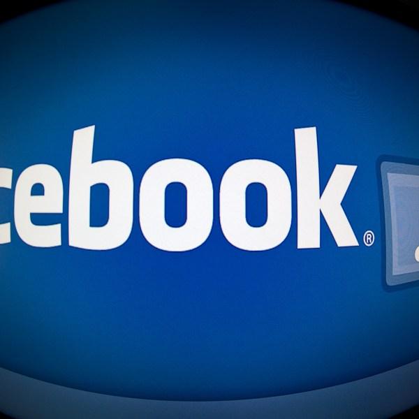 Facebook's logo is shown in a file image. (Credit: KAREN BLEIER/AFP/Getty Images)