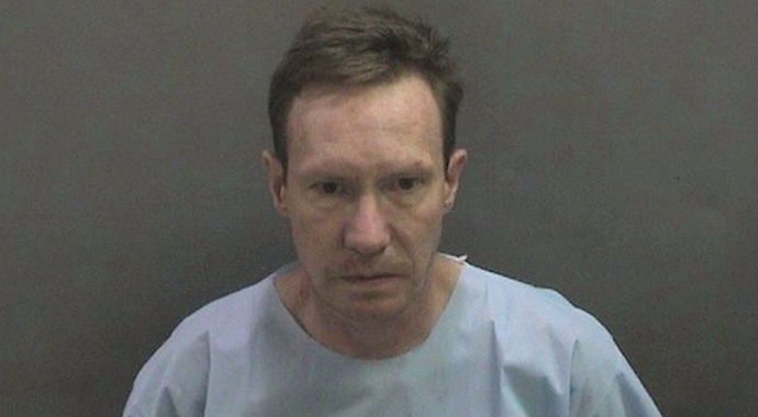 A booking photo of Peter Gregory Chadwick was released in October 2012. (Credit: Newport Beach Police)