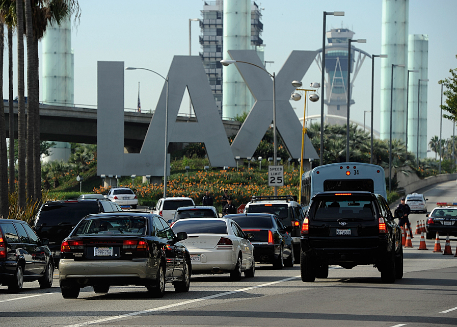 Los Angeles International Airport is shown in a file photo on Nov. 23, 2011. (Credit: Kevork Djansezian/Getty Images)