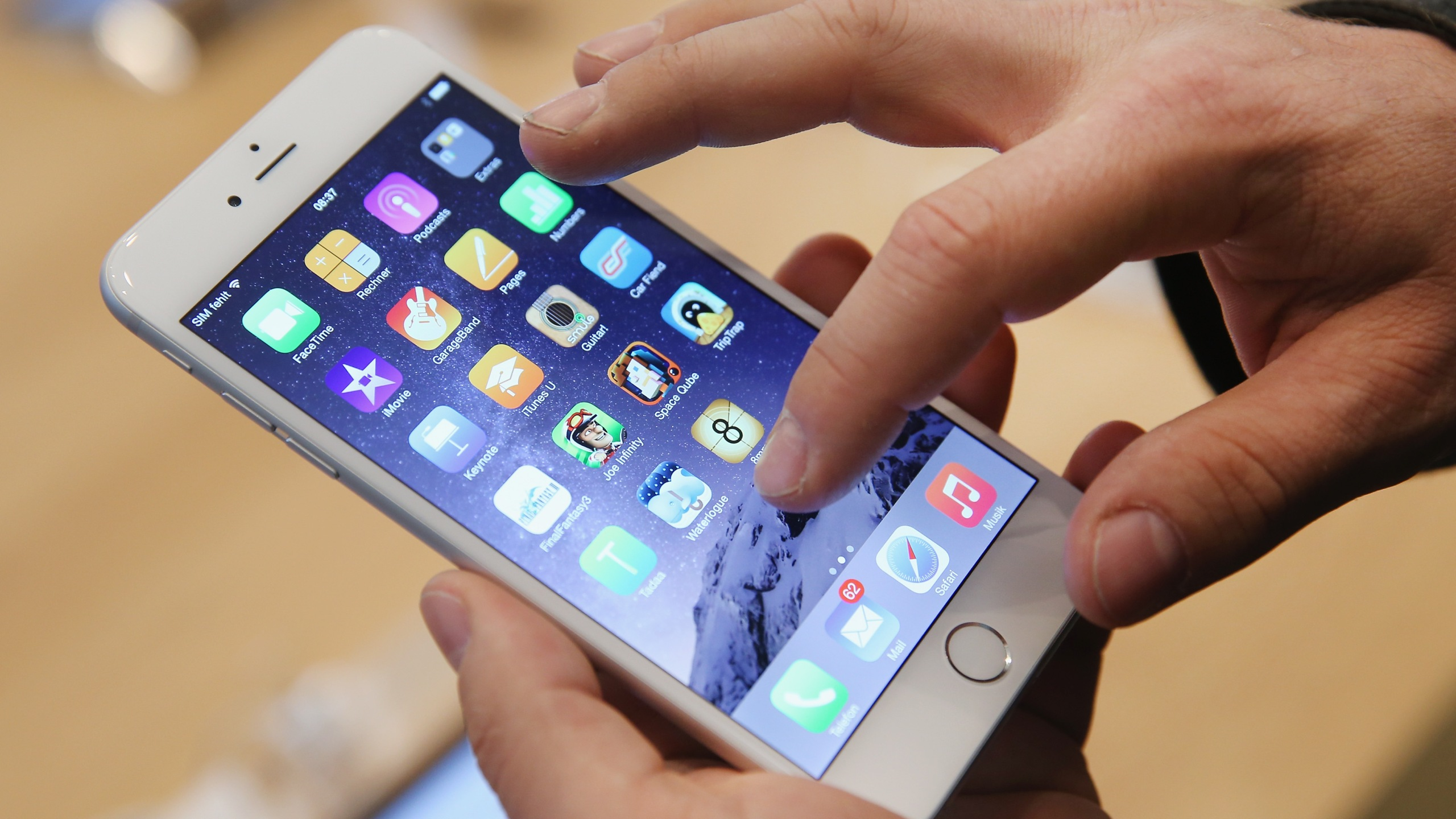 An iPhone 6 is seen in a file photo. (Credit: Sean Gallup/Getty Images)