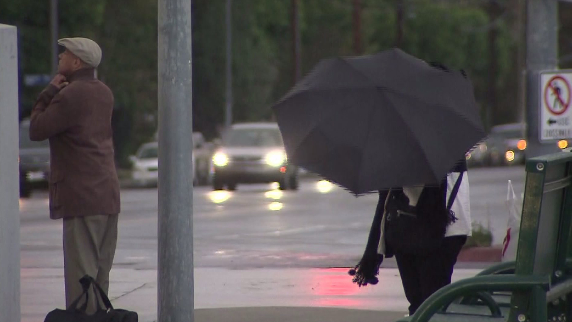 A file photo shows rain in Southern California. (Credit: KTLA)