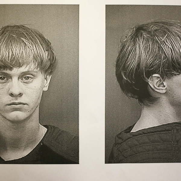 In this handout photo provided by the Charleston County Sheriff's Office Detention Center, Dylann Storm Roof is seen in his booking photo after he was apprehended as the main suspect in the mass shooting at the Emanuel African Methodist Episcopal Church that killed nine people on Thursday, June 18, 2015, in Charleston, S.C. (Charleston County Sheriff's Office/via Getty Images)