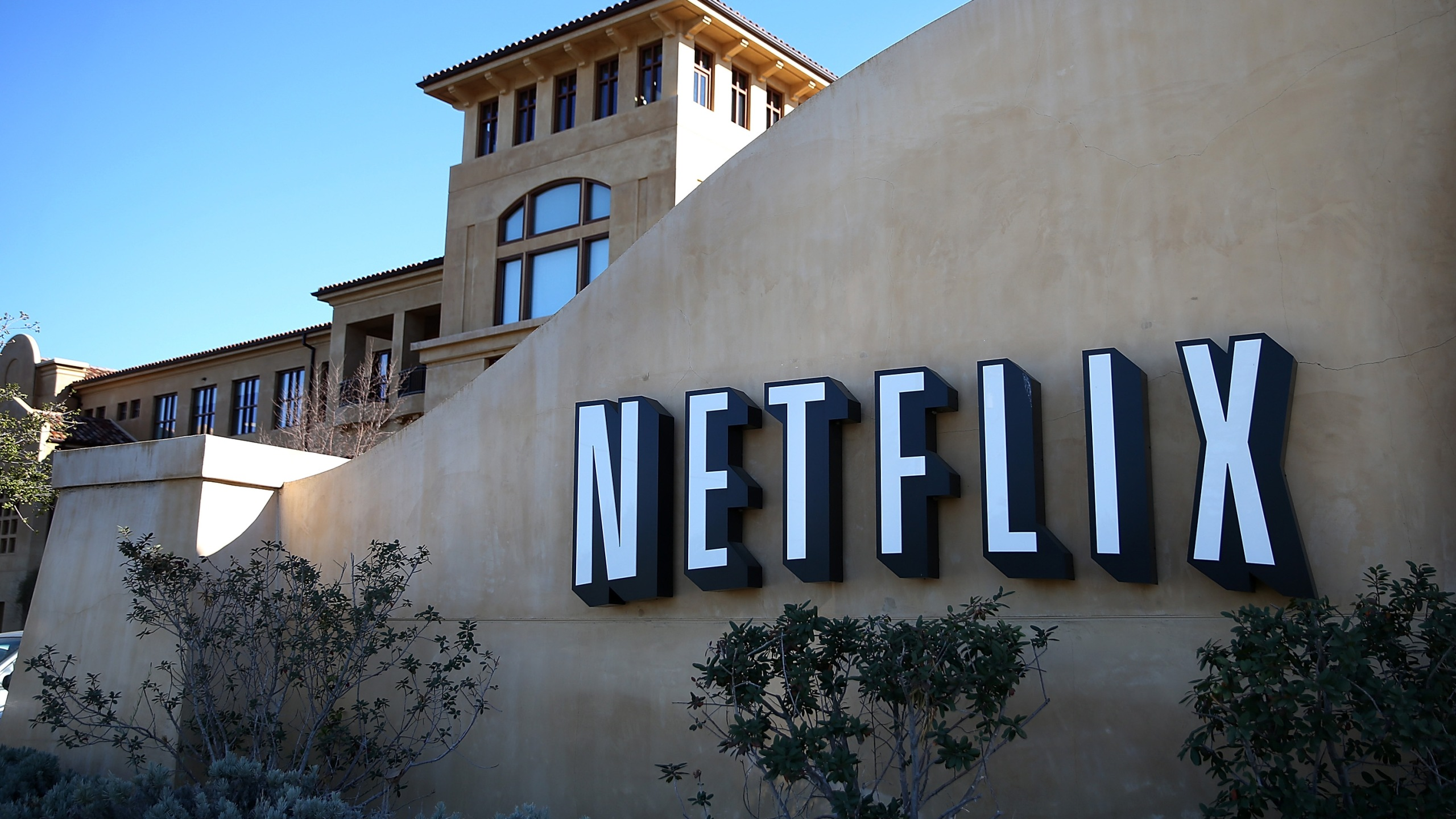 Netflix headquarters in Los Gatos are shown on Jan. 22, 2014. (Credit: Justin Sullivan/Getty Images)