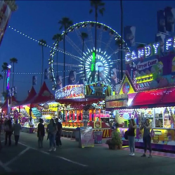 Thousands flocked to the Fairplex in Pomona on Friday, Sept. 4, 2015, for the opening day of the Los Angeles County Fair. (Credit: KTLA)