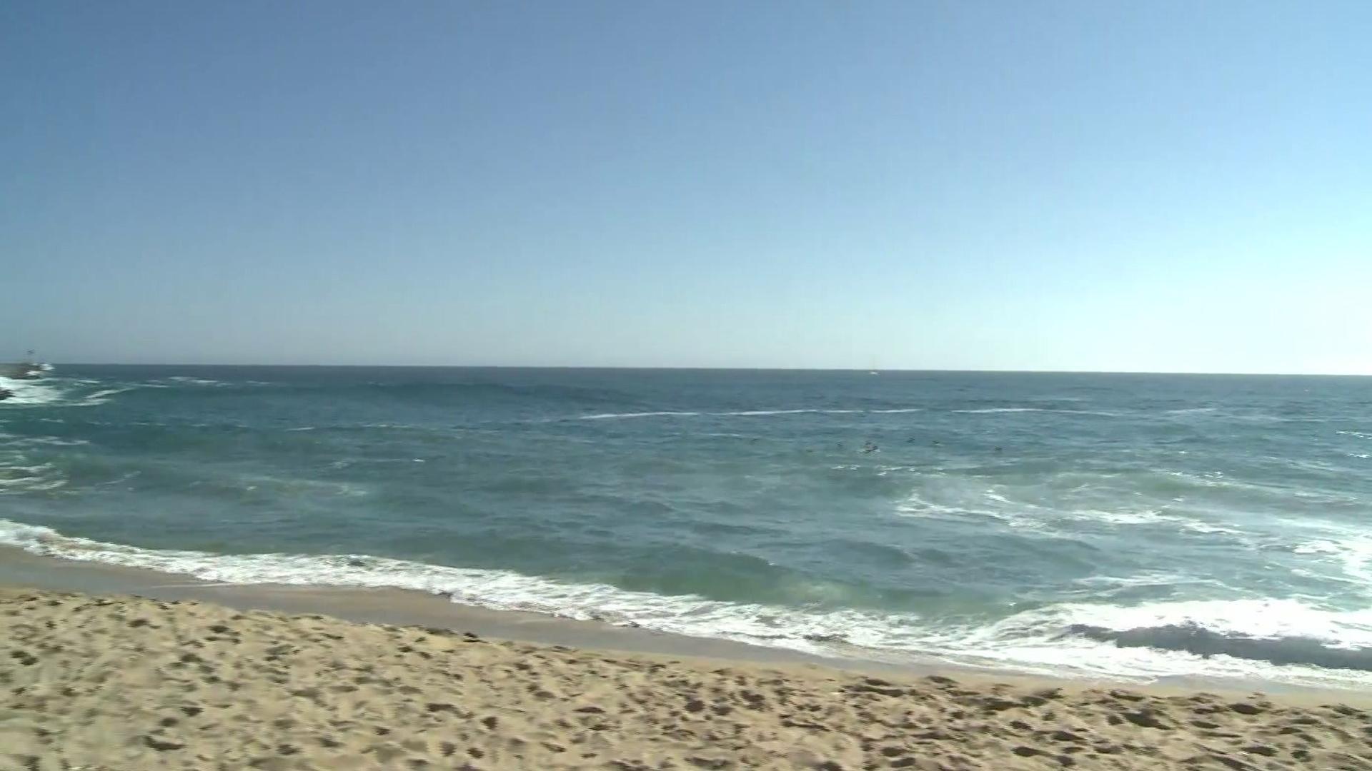 The ocean off of Newport Beach is seen in a file photo. (Credit: KTLA)