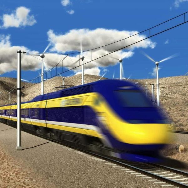 A 2015 drawing of a proposed bullet train from L.A. to San Francisco. (California High-Speed Rail Authority/EPA)