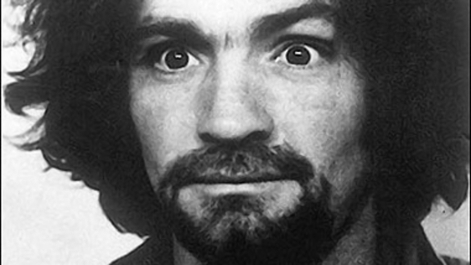 Charles Manson is seen in a booking photo from the Ventura County Sheriff's Department in 1968.