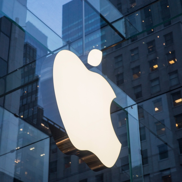 The Apple store on Fifth Avenue is seen on Jan. 26, 2016, in New York City. (Credit: Andrew Burton/Getty Images)