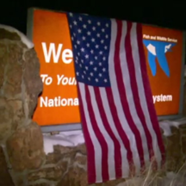 A group over armed protesters have taken over a building in a federal wildlife refuge in Oregon. The group is inside part of the Malheur National Wildlife Refuge near Burns after gathering outside for a demonstration supporting Dwight and Steven Hammond, father and son ranchers who were convicted of arson. (Credit: KTVZ)