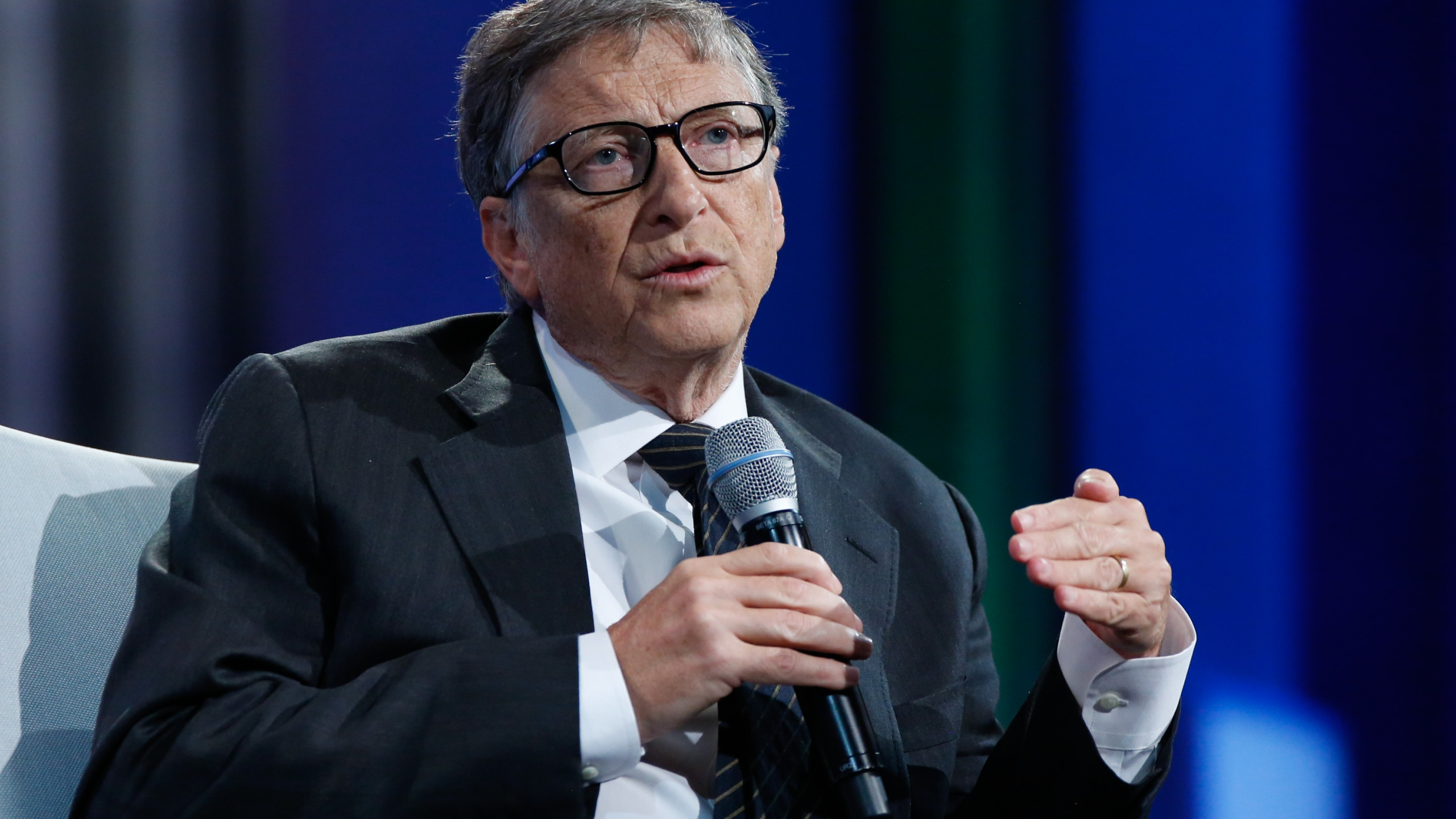 Bill Gates speaks on stage at the Plenary Session: Investing in Prevention and Resilient Health Systems on September 27, 2015 in New York City. (Credit: JP Yim/Getty Images)