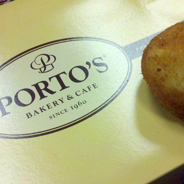 A stuffed potato ball from Porto's Bakery in Burbank is seen in a file photo. (Credit: pchow98/Filckr via creative commons)