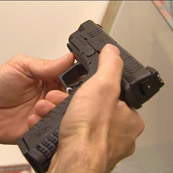A handgun is seen in a file photo. (Credit: CNN)