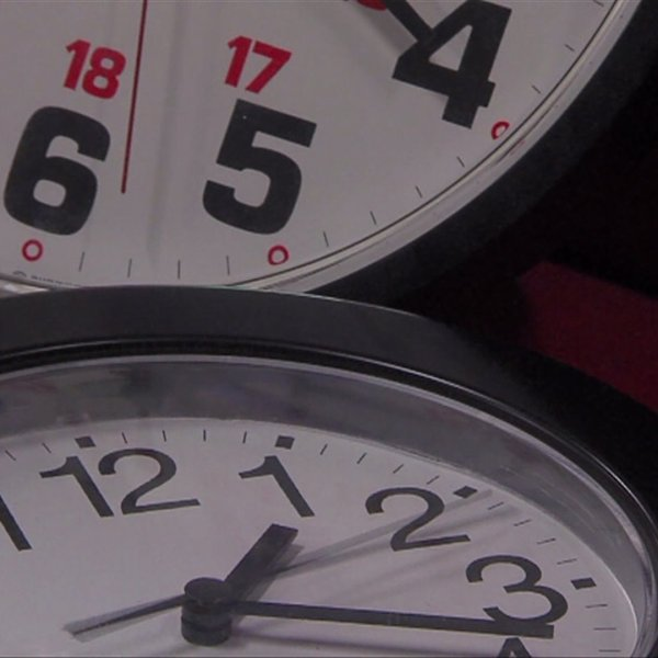 Clocks are seen in a file photo.