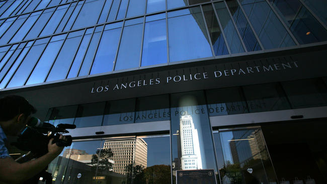 LAPD headquarters are shown in a file photo. (Credit: Bob Chamberlin / Los Angeles Times)