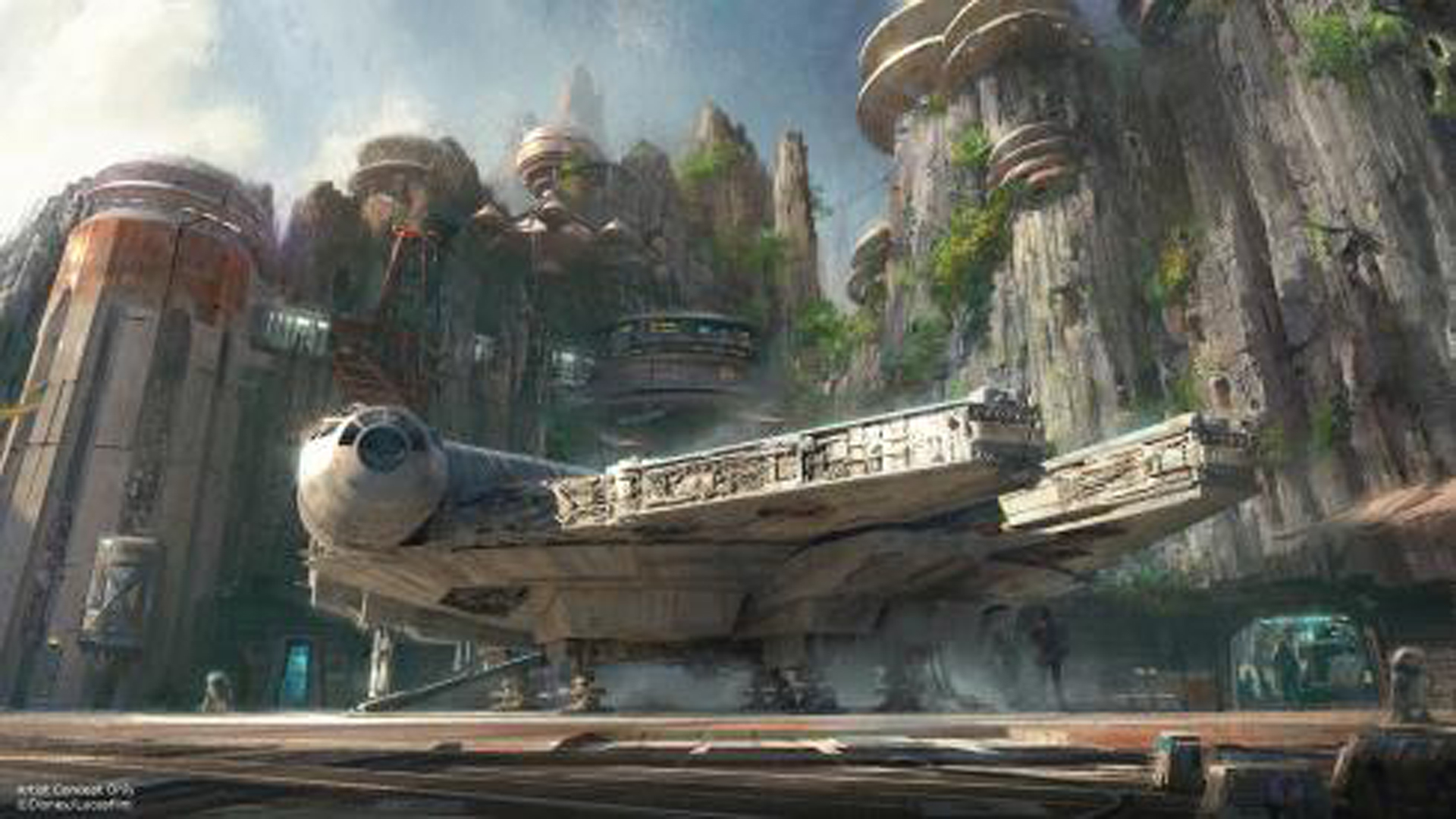 """Disney Parks released this image of the """"Star Wars""""-themed land coming to the company's parks in Orlando, Fla., and Anaheim. (Credit: Disney Parks)"""