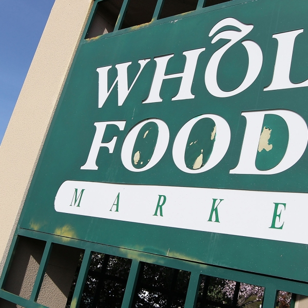 A Whole Foods Market sign is seen in a file photo. (Credit: Justin Sullivan/Getty Images)