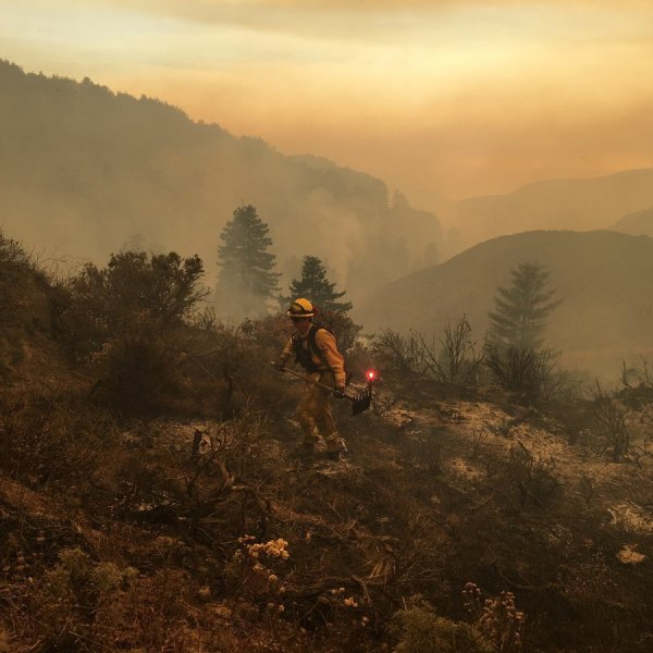 Cal Fire spokesman Daniel Berlant tweeted this photo of the Soberanes Fire on July 29, 2016.