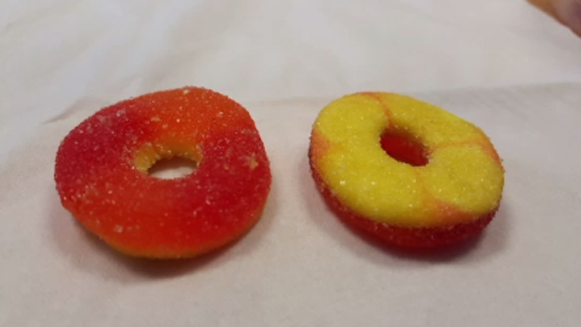 Marijuana-laced gummy candies are seen in a file photo. (Credit: San Francisco Department of Public Health via CNN)