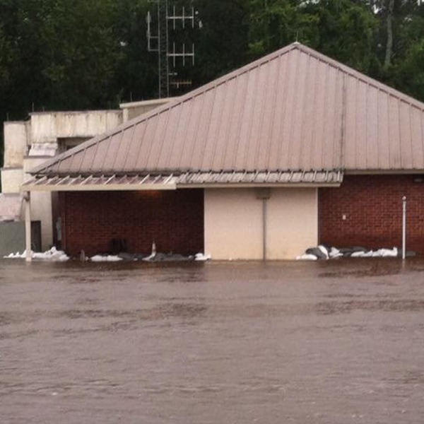The Livingston Parish 911 Communications Center in Louisiana was forced to close due to flooding. (Credit: Livingston Parish Sheriff)