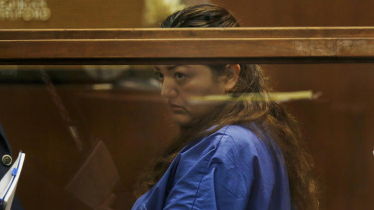 Veronica Aguilar appears for a hearing in a downtown Los Angeles courtroom in Aug. 2016. (Credit: Francine Orr / Los Angeles Times)