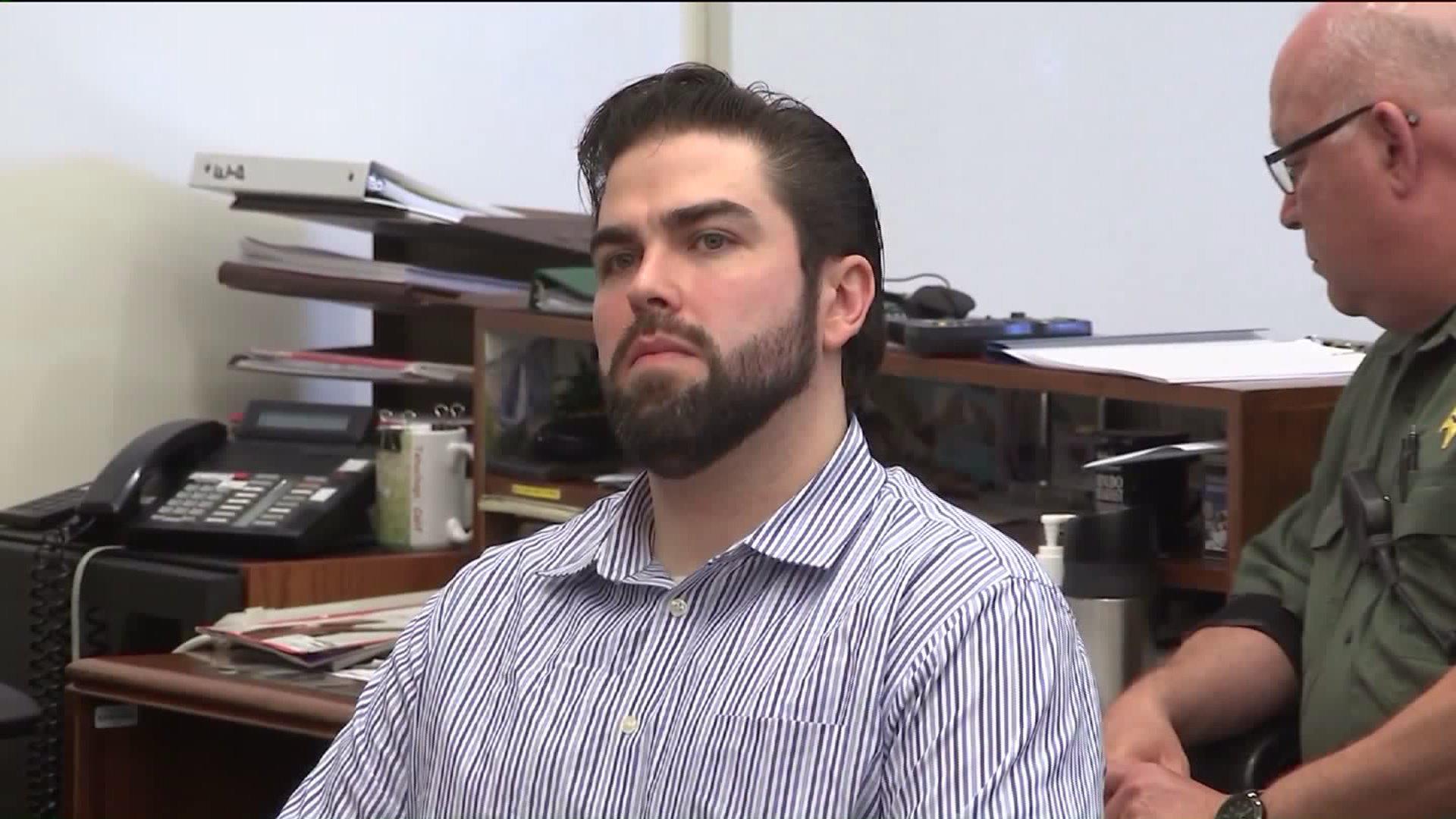 Daniel Wozniak sits in court in Santa Ana on Sept. 23, 2016. (Credit: KTLA)