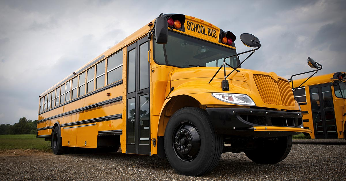 A school bus is seen in a file photo.