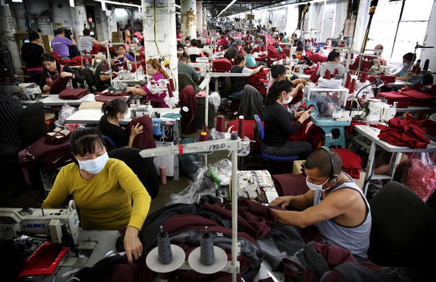 American Apparel found a buyer for its Garden Grove facility, potentially preserving some of the factory's 330 jobs. (Credit: Barbara Davidson / Los Angeles Times)