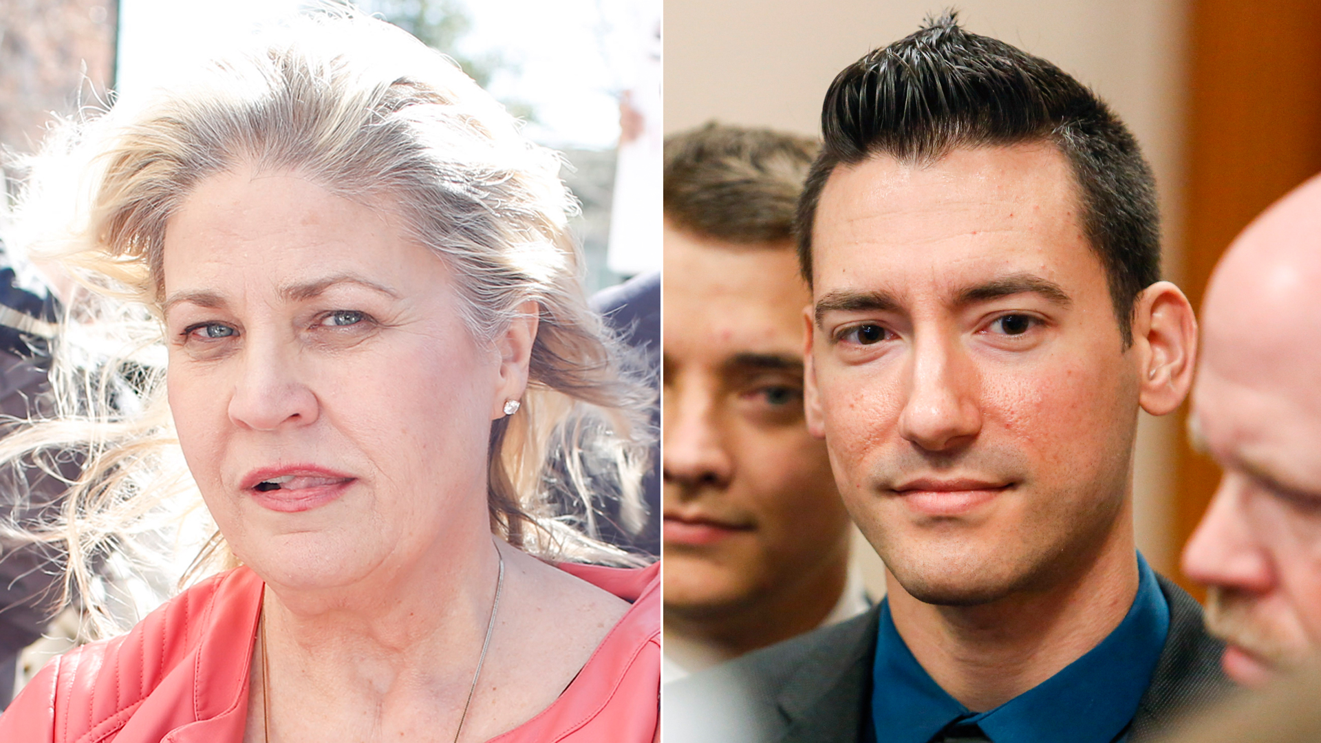 Sandra Merritt, left, and David Daleiden appear at the Harris County Criminal Courthouse in Houston in February 2016. (Credit: Eric Kayne/Getty Images)