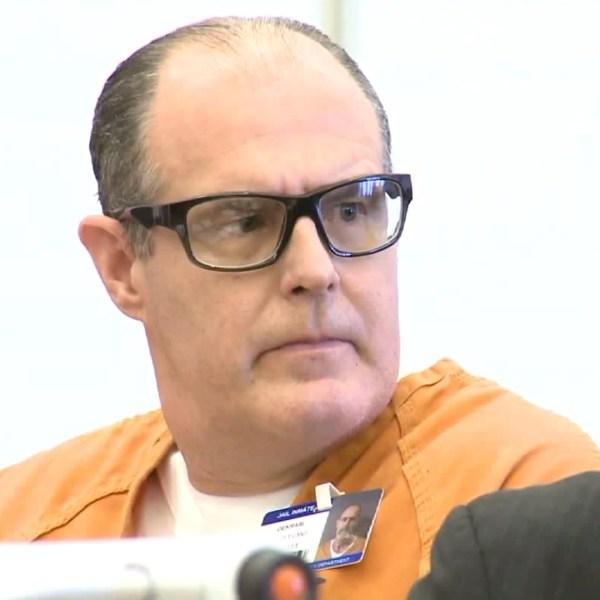 Scott Dekraai is shown in court in March 30, 2017. (Credit: KTLA)