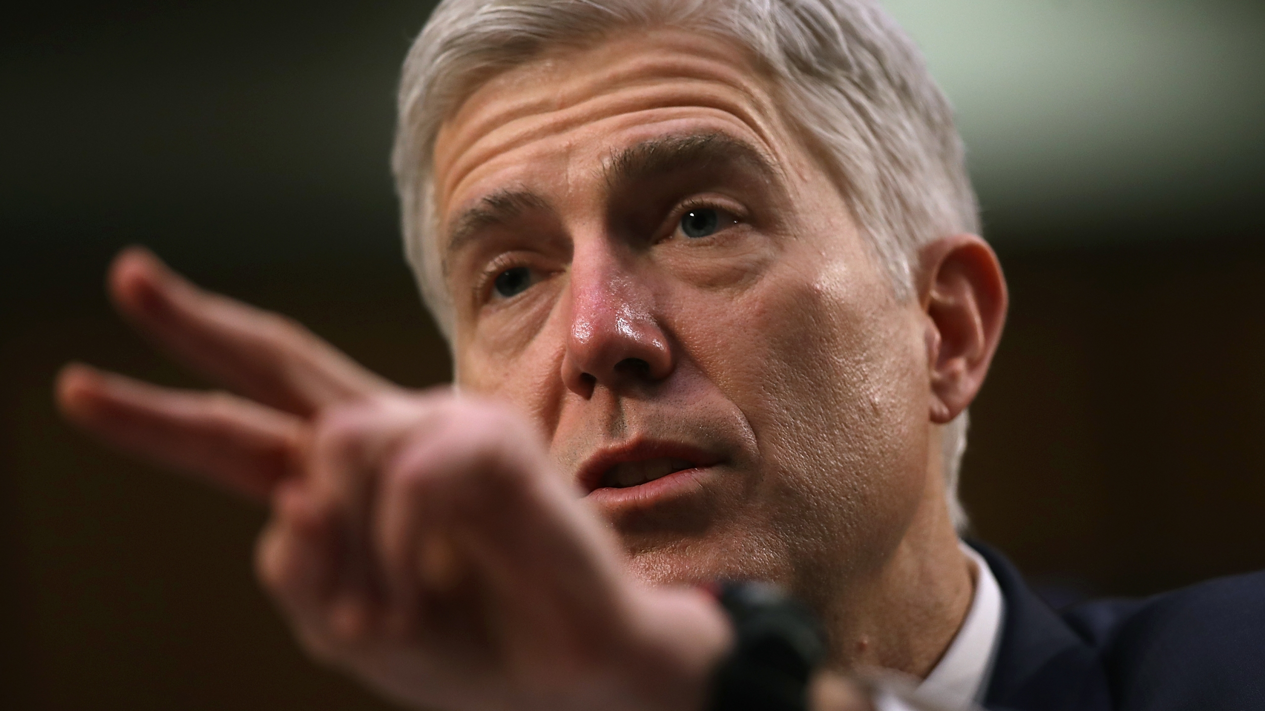 Judge Neil Gorsuch testifies during the third day of his Supreme Court confirmation hearing before the Senate Judiciary Committee in the Hart Senate Office Building on Capitol Hill, March 22, 2017 in Washington. (Credit: Justin Sullivan/Getty Images)