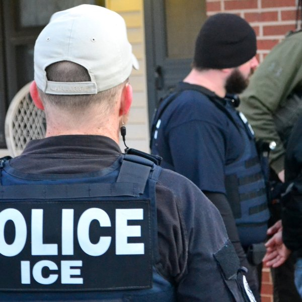 An ICE officer is shown in a file photo on February 6, 2017. (Credit: U.S. Immigration and Customs)