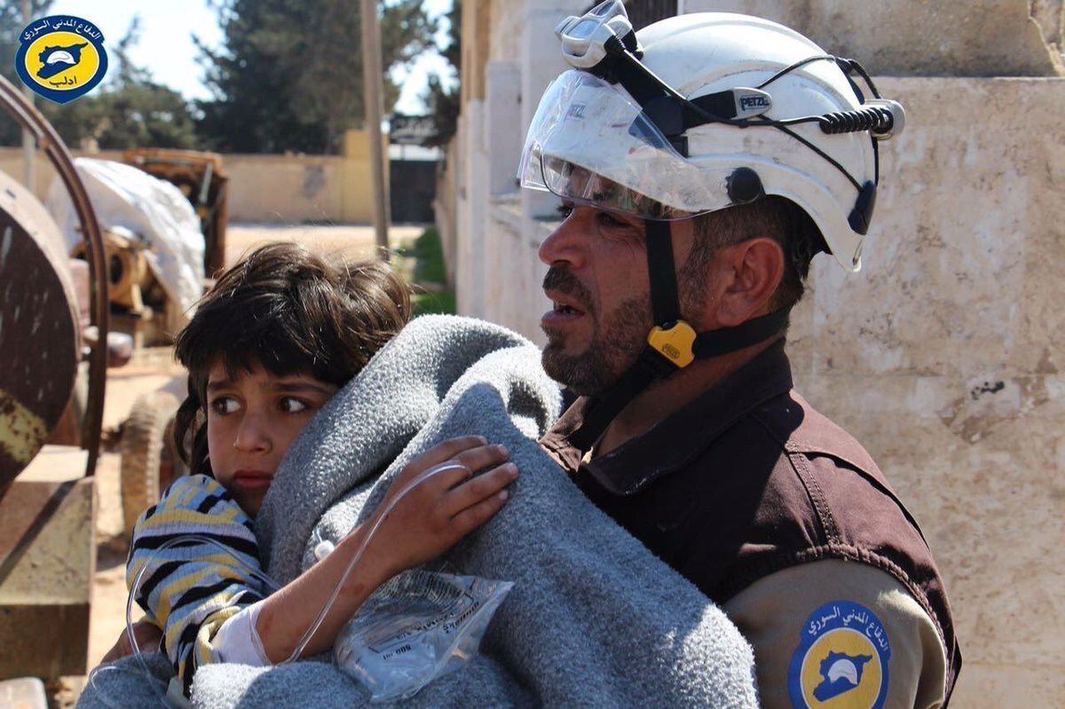 Dozens of people, including at least ten children, have been killed and more than 200 injured in a suspected chemical attack in northern Syria, multiple activist groups claim. (Credit: Syria Civil Defense)