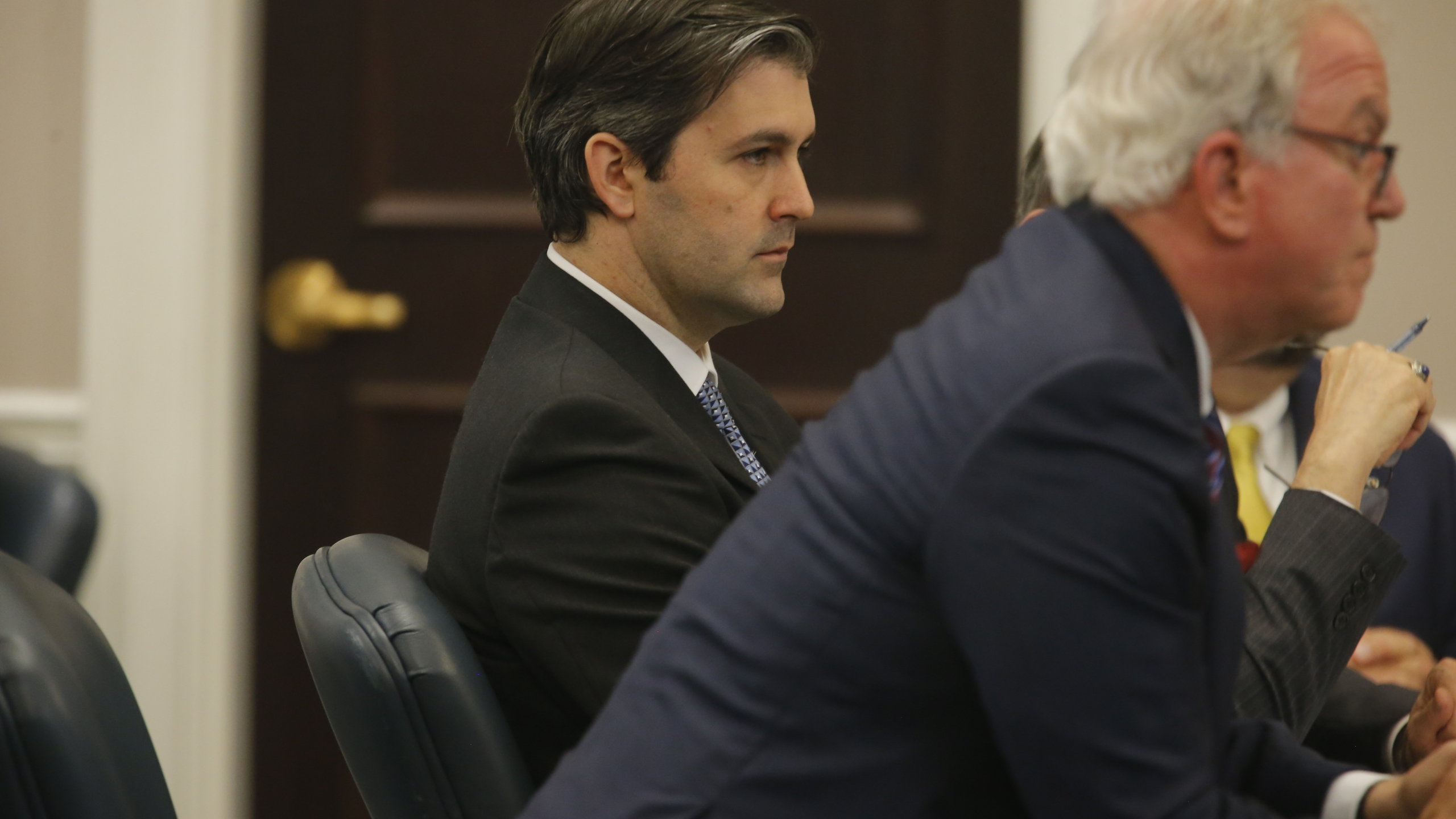 Former North Charleston police Officer Michael Slager listens as Judge Clifton Newman declares a mistrial at the Charleston County court in Charleston, South Carolina, Dec. 5, 2016. (Credit: Grace Beahm - Pool/Getty Images)