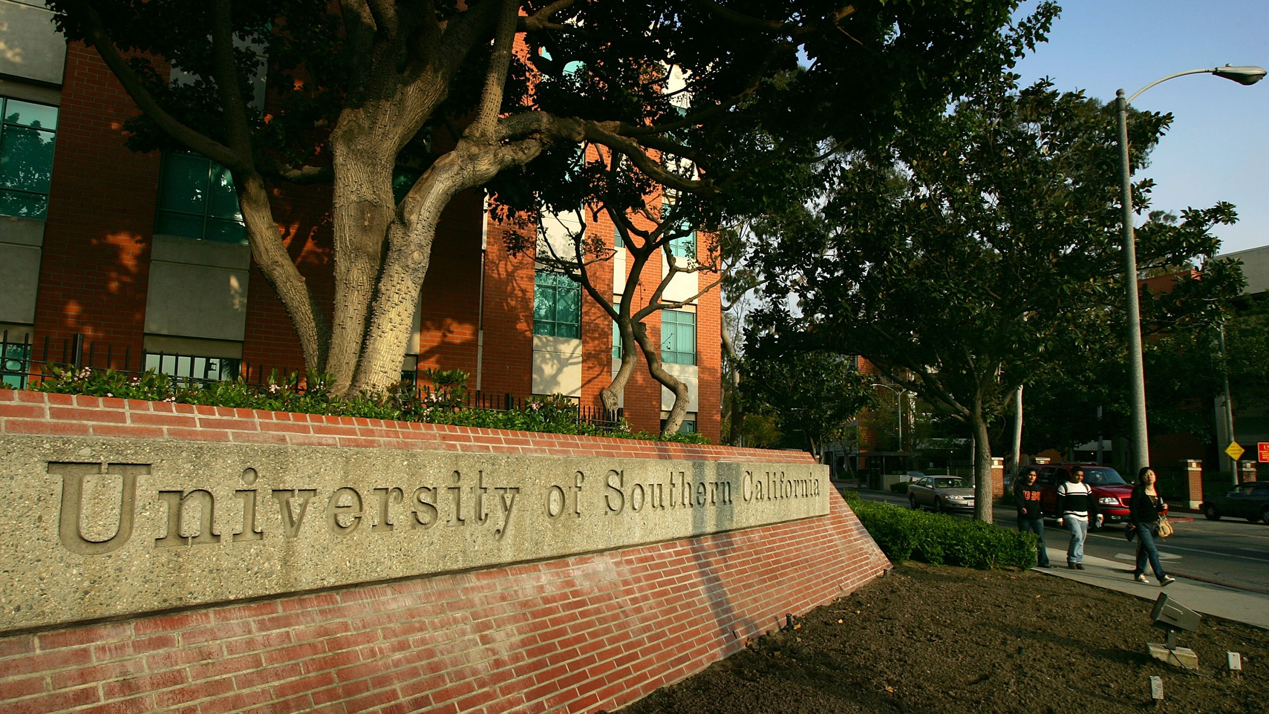 An entrance to the University of Southern California campus is seen in this file photo. (Credit: David McNew/Getty Images)
