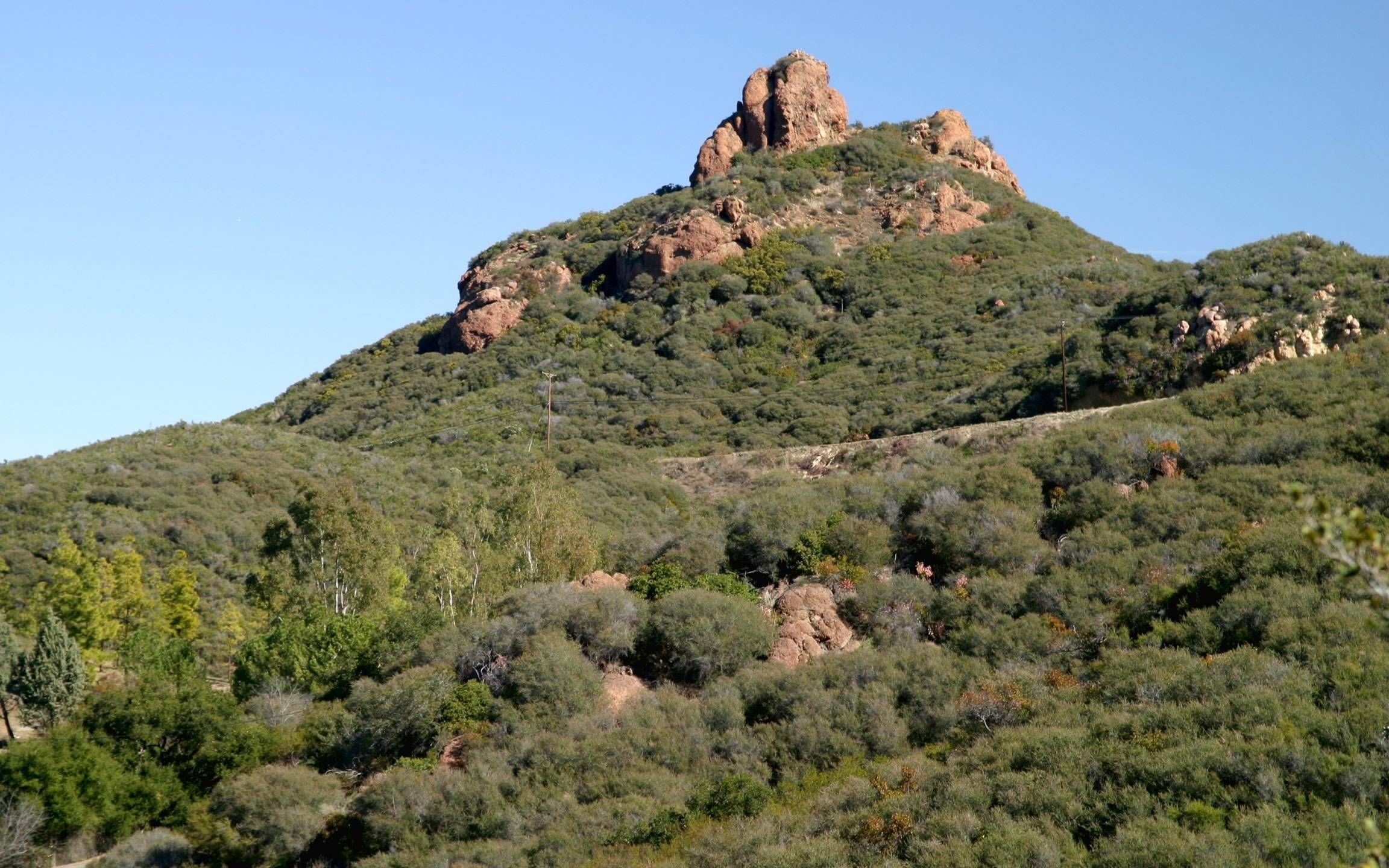 A view off the Backbone Trail near Sandstone Peak is shown in a National Park Service photo.