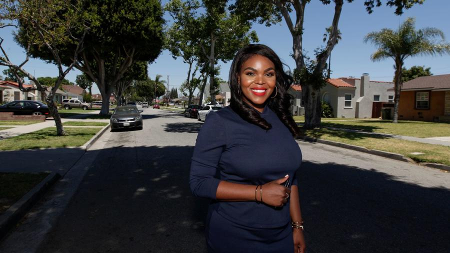 Compton Mayor Aja Brown became the city's youngest mayor in 2013. (Credit: Irfan Khan / Los Angeles Times)