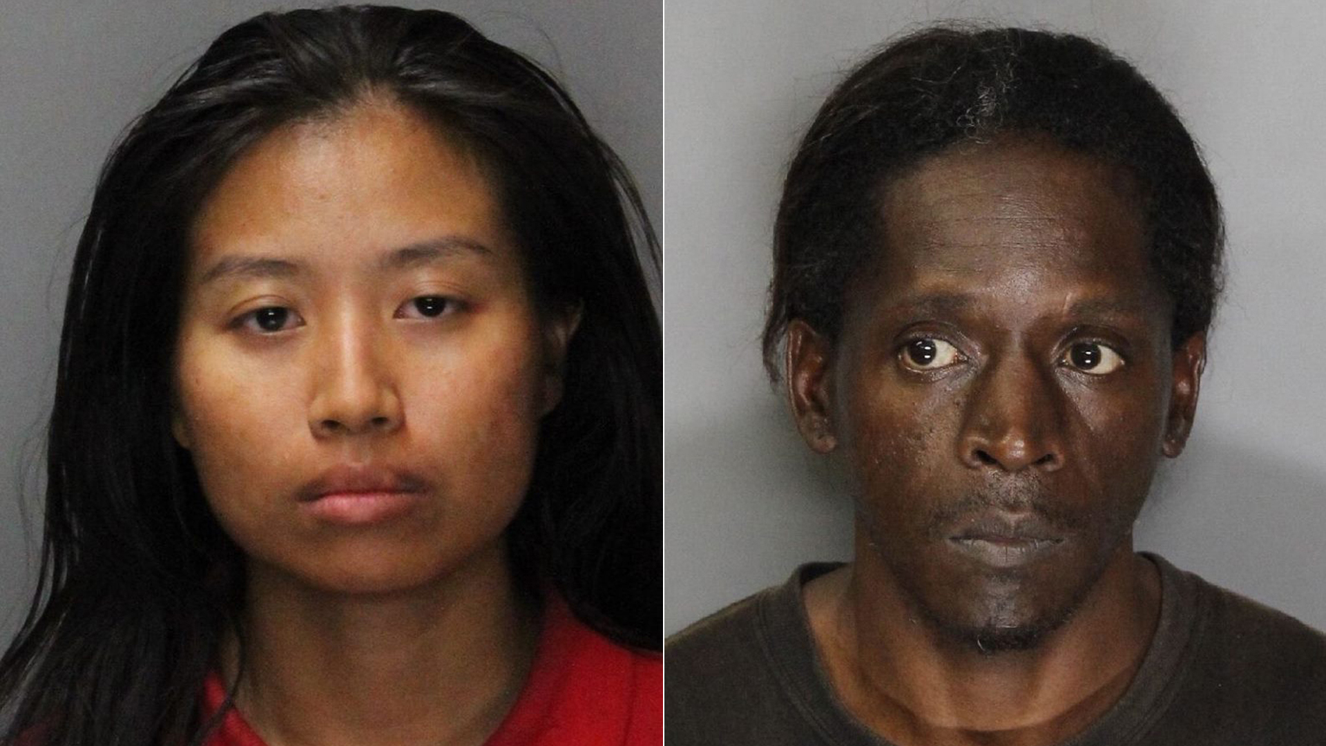 Angela Phakhin, left, and Untwan Smith, right, are seen in booking photos released by Rancho Cordova police.