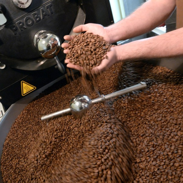 Coffee beans are seen being ground in this undated photo. (Credit: PIERRE ANDRIEU/AFP/Getty Images)
