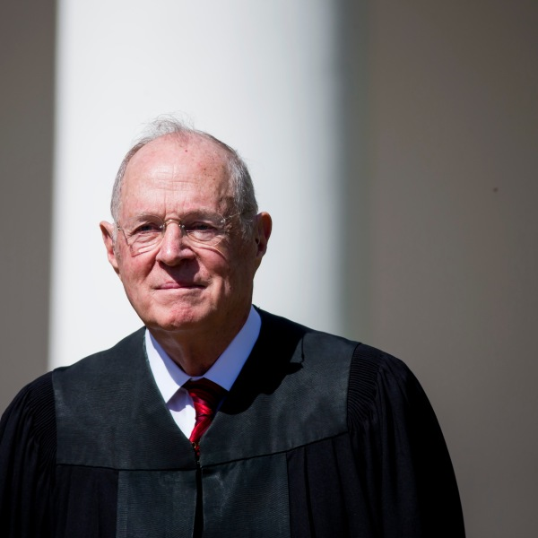 U.S. Supreme Court Associate Justice Anthony Kennedy is seen during a ceremony in the Rose Garden at the White House April 10, 2017 in Washington, DC. (Credit: Eric Thayer/Getty Images)