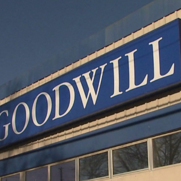 A Goodwill sign is seen in a file photo.