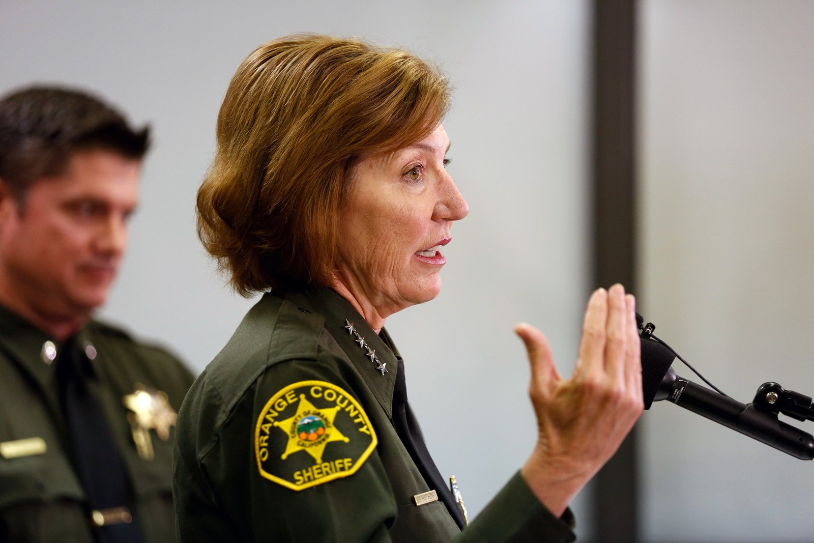 Orange County Sheriff Sandra Hutchens is shown in a file photo. (Credit: Gary Coronado / Los Angeles Times)
